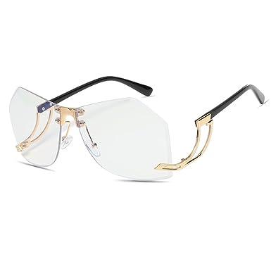 CVOO Polygon Sunglasses Men Color Coating Frameless Sunglasses Women Sunglasses IgUe6n