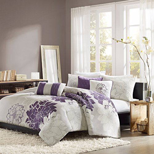 Madison Park Lola 6 Piece Printed Duvet Cover Set, King/ Cal King, - Piece Duvet 6 Set