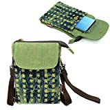 Gcepls Canvas Small Cute Crossbody Cell Phone Purse Wallet Bag with Shoulder Strap for iPhone X iPhone 6 6s 7 Plus,iPhone 8 Plus Samsung Galaxy S9 Plus S8 Edge Note 9 (Fits with OtterBox Case)