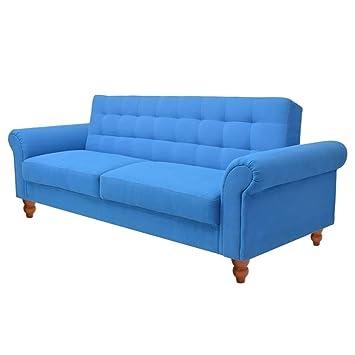 Schlafcouch Blau vidaxl schlafsofa bettsofa sofa bett schlafcouch schlafsofa