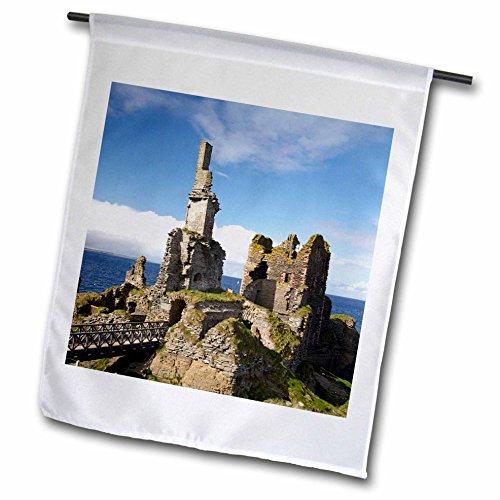 stle Sinclair Girnigoe, Wick, Caithness, Scotland-EU36 DWA0081-David Wall Garden Flag, 12 by 18-Inch (Lg Wick)