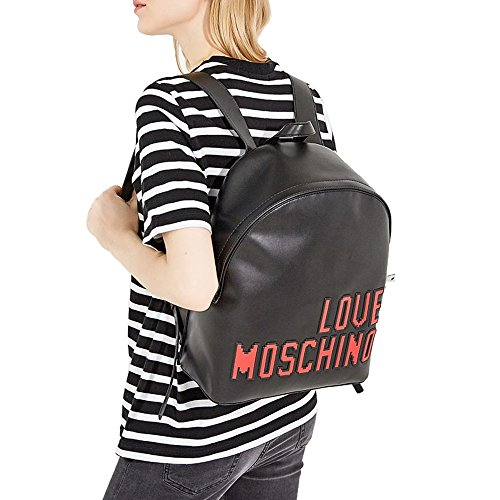 LOVE MOSCHINO Pixel Logo Backpack, Black by MOSCHINO (Image #4)