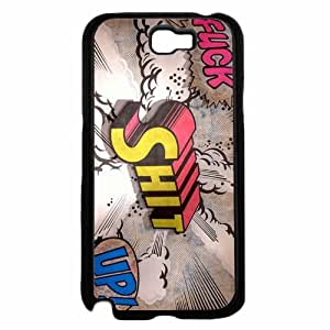 Fuck Shit Up Comic Text Quote Plastic Phone Case Back Cover Samsung Galaxy Note II 2 N7100