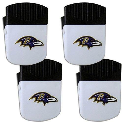 (Siskiyou NFL Baltimore Ravens Chip Clip Magnet with Bottle Opener, 4 Pack)