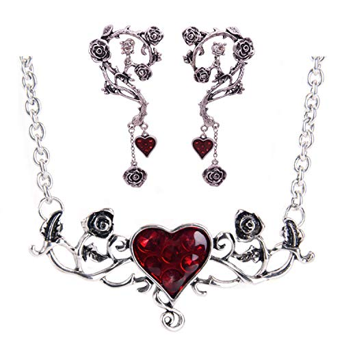 Croozy Womens Retro Rose Choker Set Gothic Choker Necklace Set for Halloween Party Cosplay ()