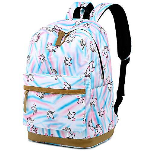 CAMTOP School Backpack Teen Girls Bookbag Student Back to School Laptop Backpack (A White)
