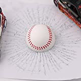 Car 3D Balls Sticker, Marsway® 2016 Creative Funny 3D Baseball Golf Tennis Ball Hits Car Window Decal Stickers(Baseball)