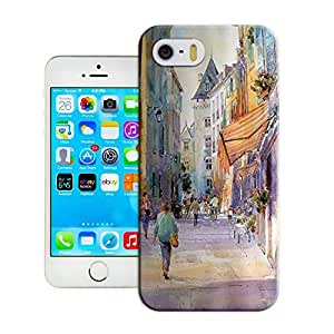 LarryToliver iphone 5/5s hard case for Customizable Watercolor style architecture , designer Customizable cell phone case