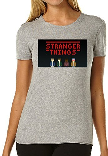 Price comparison product image Stranger Things Tv 4k Pixel Fan Art Women's T-shirt