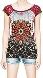 Underground Mandala Dreamcatcher Full Print Hippie Gypsy Women's T-Shirt (Large, US 12-14)