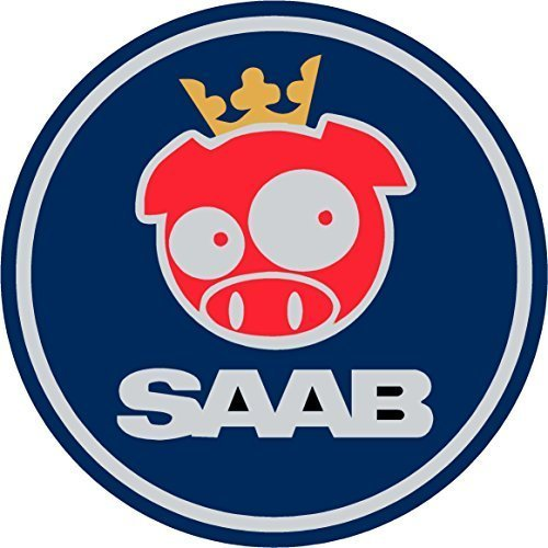 Saab Blue Rally Pig Replacement Decal Sticker 8 Piece for sale  Delivered anywhere in Canada