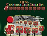 10 PIECE CHRISTMAS TRAIN PATHWAY LIGHT SET