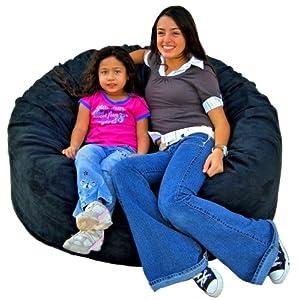 Cozy Sack 4-Feet Bean Bag Chair, Large, Black