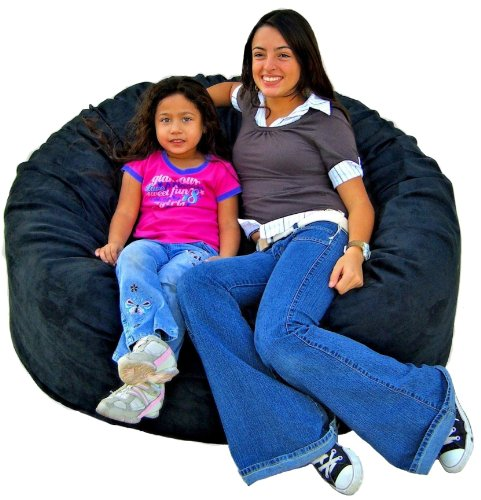 Cozy Sack 4-Feet Bean Bag Chair, Large, Black (Bean For Sitting Bags)