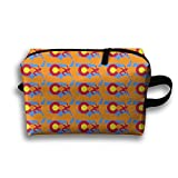 Bxsnd Usa Wrestling Unisex Oxford Cosmetic Bag Crazy Travel Zipper Pouch Creative Cosmetic Pouch