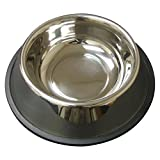 QT Dog Non-Tip Anti-Skid Stainless Steel Bowl, 1 Pint