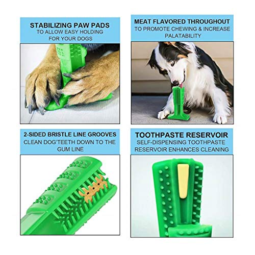Viet's Toothbrush Dogs - Pet Dog Toothbrush - Chew Toys Pets Tooth Cleaning Training Playing - Soft Natural Stick Toy Pets Lover - Medium Size (25-40lbs (Natural Biodegradable Training Pads)
