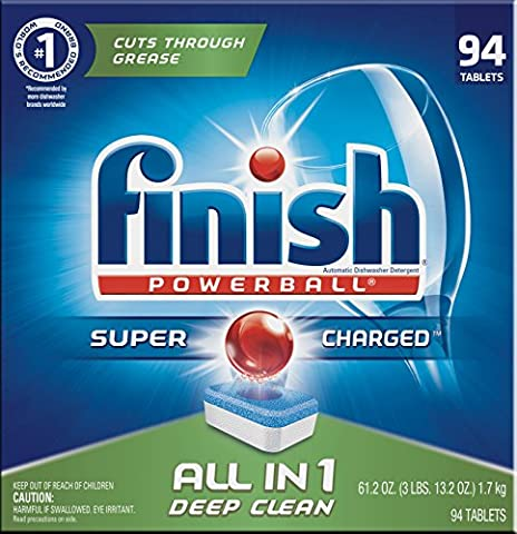 Finish All In 1 Powerball, Fresh 94 Tabs, Dishwasher Detergent Tablets (Platinum No 1)