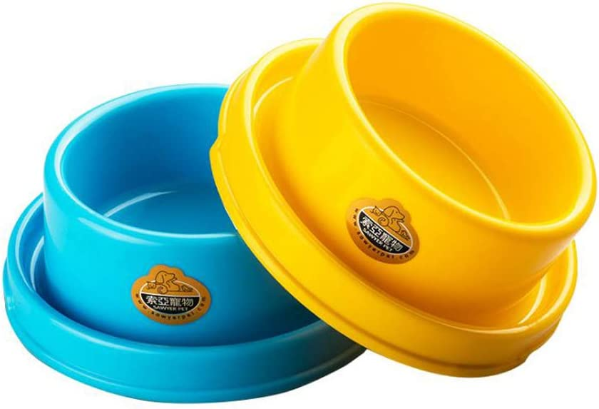 TEESUN Dog Bowl Raised Pet Food Bowls Cat Puppy Bowls Round No Spill Colorful Anti Ants Water Feeder Eating Bowl for Small Animals