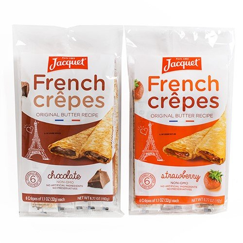 Ready to Eat French Crepes by Jacquet  Filled  Chocolate 677 ounce