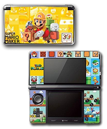 Original Mario Super Game Bros (Super Mario Maker New Bros 3 Level World Video Game Vinyl Decal Skin Sticker Cover for Original Nintendo 3DS System)