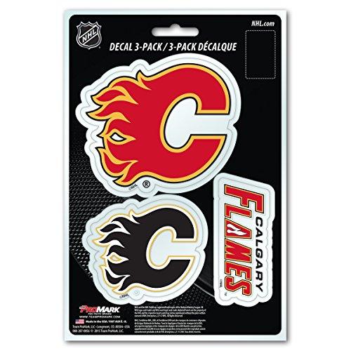 NHL Calgary Flames Team Decal, 3-Pack