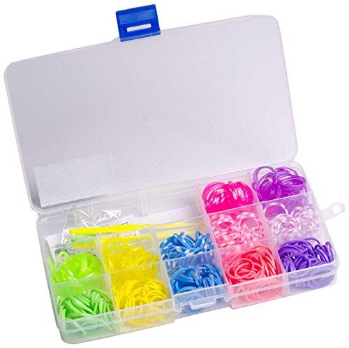 Glow2B Spielwaren 5620024 - Loom's  Box for Girls, 360 Stück