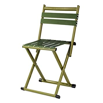 Silla plegable KKY-Enter Verde Plegable Taburete Plegable ...