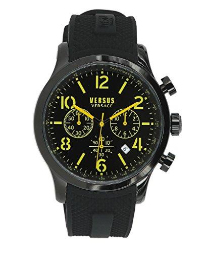 Versus by Versace Men's 'Naboo' Quartz Stainless Steel Fashion Watch, Color:Black (Model: VSPEC0318)