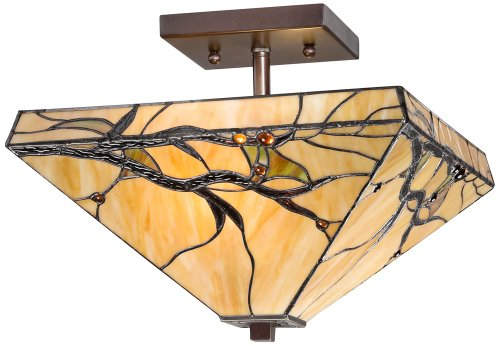 Budding Branch 14'' Wide Tiffany Style Ceiling Light by Robert Louis Tiffany