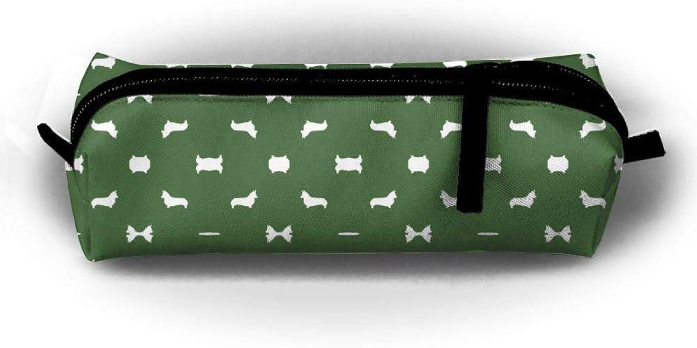 Arden - Bolsa de tela para lápices con diseño de silueta de perro: Amazon.es: Oficina y papelería