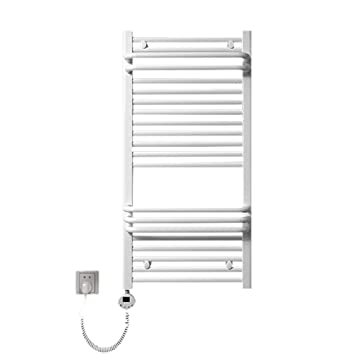 QETU Calentador de Toallas eléctrico, Calentador de Estante Toallas eléctrico montado en la Pared de Acero Inoxidable, Instalaciones con cableado y enchufes ...