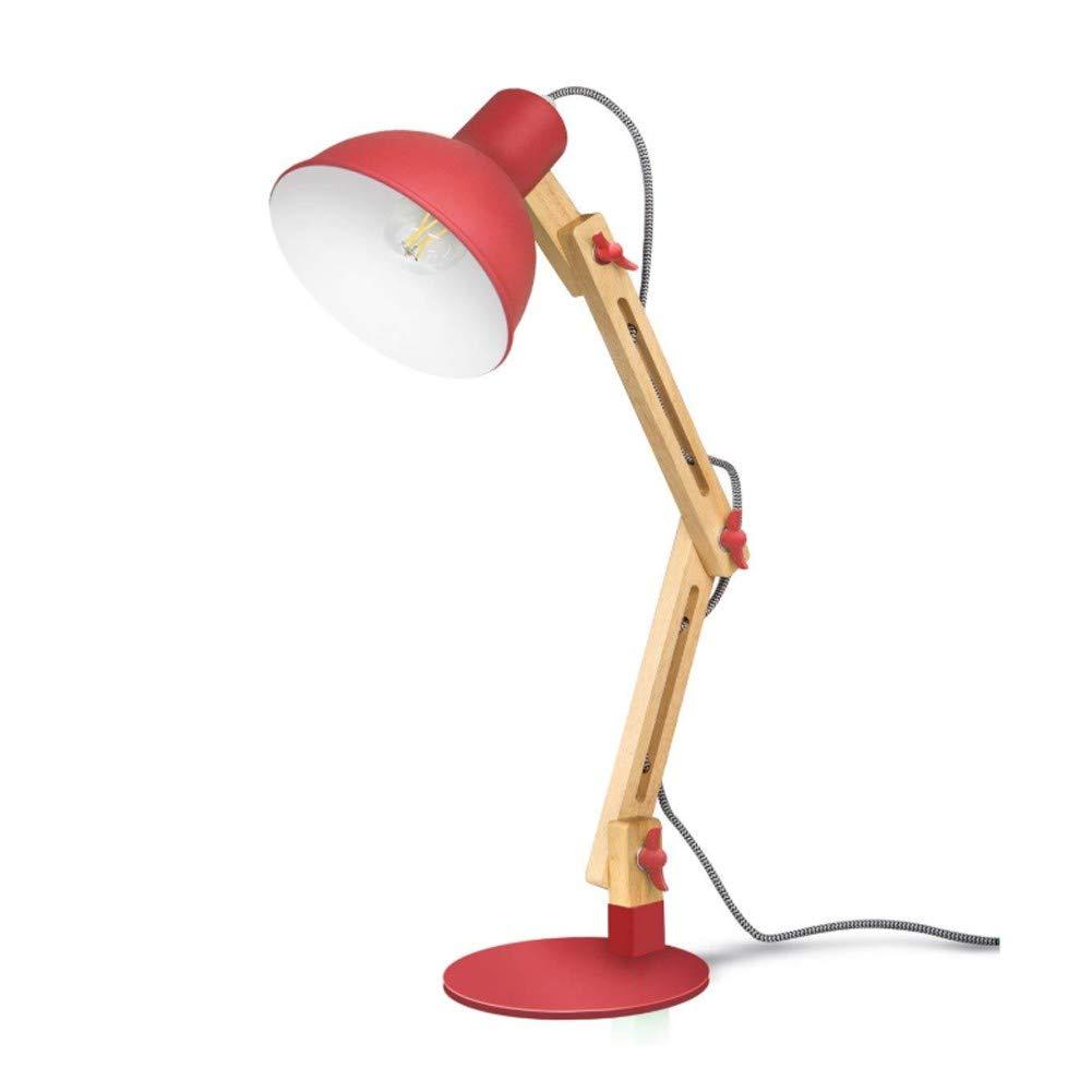 DAKANG LED Leselampe im klassichen Holz-Design, Schreibtischlampe, Tischleuchte, Verstellbare Schreibtischlampe, Augenfreundliche Leselampe, Arbeitsleuchte, Bürolampe, Nachttischlampe