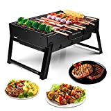 Morpilot Barbecue Charcoal Grill Folding Portable Lightweight Bbq Tools For Outdoor Cooking Picnics Camping Hiking Tailgating Backpacking