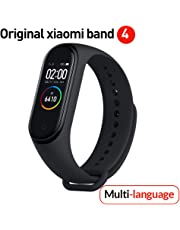 Versione Globale Xiaomi Band 4 Smart Band Color Screen Braccialetto Frequenza cardiaca Fitness Musica Bluetooth 5.0 50M Impermeabile,contapassi e notifiche di messaggistica,Android e iOS -Grafite Nero