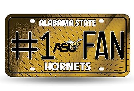 MTF150701 NCAA Alabama State Hornets #1 Fan Metal License Plate Tag Rico Industries Inc
