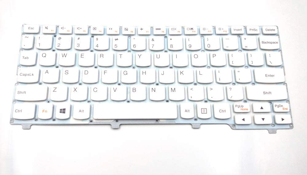 LPH Replacement Keyboard for Lenovo Ideapad 100S-11IBY, White Without Frame