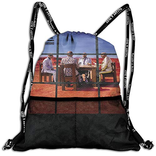 (TERESAWATKINS Muse Black Holes Revelations Men Woman Sport Gym Sack Drawstring Backpack Bag)