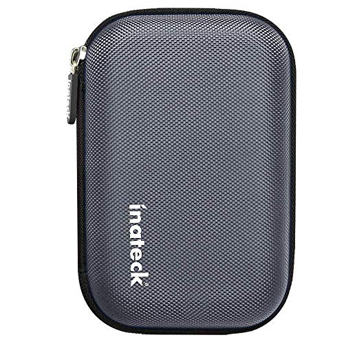 - Inateck Portable Shockproof EVA Carrying Case Shell with Zipper for 2.5 Inch Hard Disk Drives HDD/SSD and My Passport Ultra (Gray)