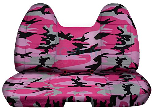 Designcovers Fits 2004-2012 Chevy Colorado/GMC Canyon Camo Truck Seat Covers (Rear 60/40 Split Bench): Pink Camouflage (16 Prints) 2005 2006 2007 2008 2009 2010 2011 Chevrolet Folding ()