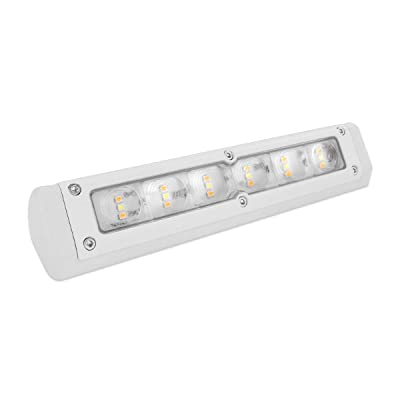 Dream Lighting LED 12V DC Awning Light Bar for RV Trailer Outdoor Camping, Boat, IP65 Waterproof Porch Light Wall Lamp for Garden, 720 lumens—White Housing, Cool White & Amber Light, 7.8inch / 200mm: Automotive