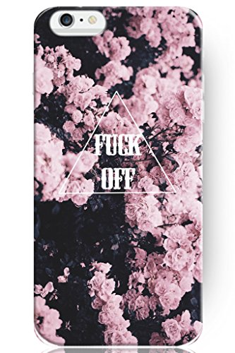 Hard Protective Apple Iphone 6 6s Plus Case Cover 5.5 Inch Pink Floral Pattern Fuck Off