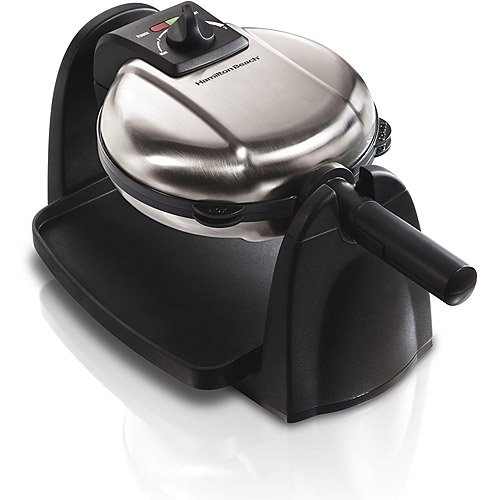 Kitchen Flip Belgian Waffle Maker, Removable Grid, Drip tray, safe non-stick