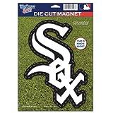"WinCraft MLB Chicago White Sox 82764010 Die Cut Logo Magnet, 6.25"" x 9"", Black"