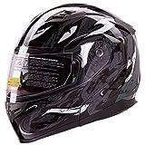 VIPER Modular Dual Visor Motorcycle / Snowmobile Helmet DOT Approved (IV2 Model #953) - Black (XL)