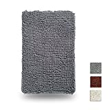 Non Slip Bathroom Rugs, Thickened and Environment-Friendly Bath, Kitchen, Guest Room Mat - Gray 16 x 24 Inches