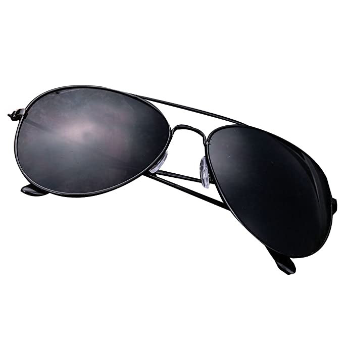 a8d207bb4 Black Unisex Vintage Retro Women Men Glasses Aviator Mirror Lens Sunglasses  Fashion