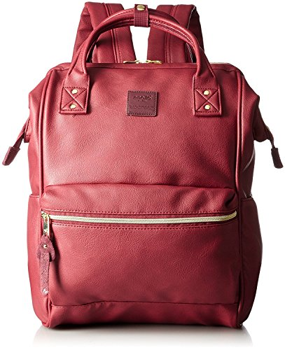 Anello Large Leather Backpack (Wine) - 1