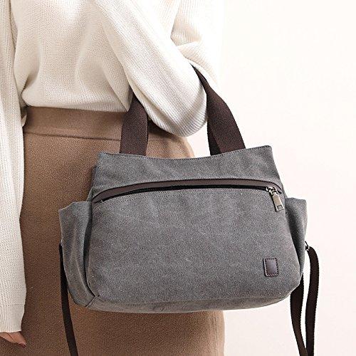 Giorni Tutti E In Donna Grey Vintage A Multifunzionale Hobo I Casual Lavoro Tela Grande Scuola Borsa Per Tracolla Da xUOTnOqZ