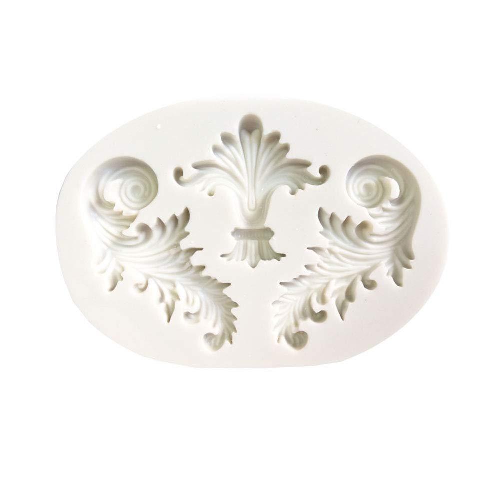 DISPLAY08retro in rilievo telaio DIY silicone Mold fondant cake Sugarcraft Decorating Tool–bianco
